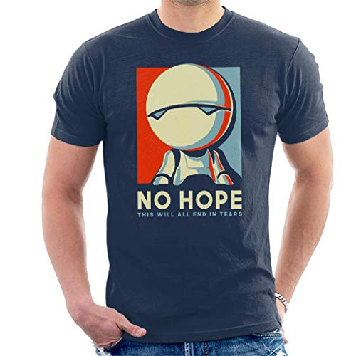Hitchhikers Guide to The Galaxy Marvin The Robot No Hope Men's T-Shirt