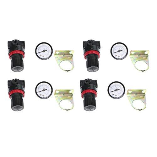 LHQ-HQ. 4pcs Druckregler for Luft Kompressor Öl/Wasser-Abscheider Filter AR2000