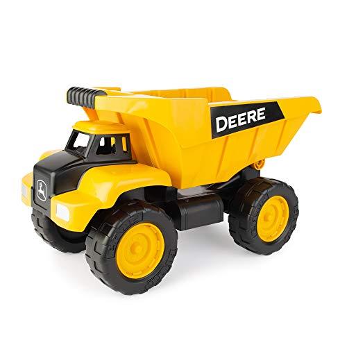 TOMY John Deere 15'' Big Scoop Dump Truck Toy with Titling Dump Bed & Rolling Wheels