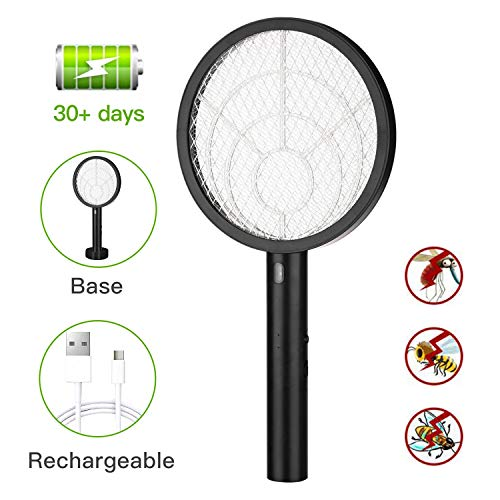 Electric Bug Zapper Fly Swatter Zap Mosquito for Indoor and Outdoor Pest Control, Powerful 4000V...