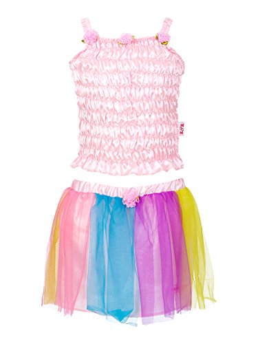 Rose & Romeo - 10082 - Costumi per Bambini - Melody Set - Top e Gonna - Rosa Chiaro