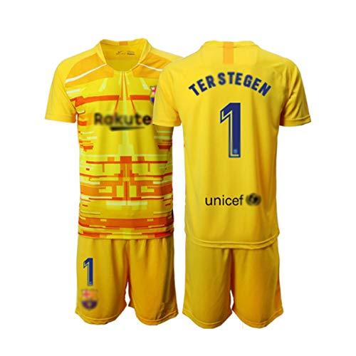 TT377 Fußballtrikot 2020,# 1 TER Stegen,Torwarttrikot,Geeignet Für Erwachsene Und Kinder,T-Shirt + Shorts