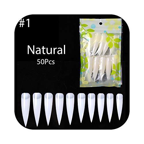 Faux Ongles 1 Sac Construction Rapide Moule Ongles Conseils Double Formes D'ongles 10 Différentes Taille Extension De Doigt UV Constructeur UV Gel Nail Art Outils Décor-50 pcs-2-,