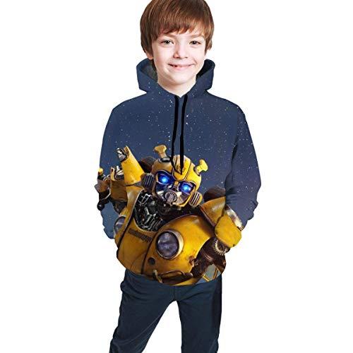 Transformers Bumblebee Teens Sudadera con Estampado Pullover Sudaderas Personalizadas Sudaderas Suéter para niños Niñas Adolescentes Niños