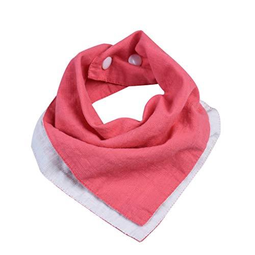 suoryisrty Babero Reversible de Muselina y algodón Accesorios para bebés Baberos de pañuelo para bebés Bufanda Triangular Suave para niños pequeños - 4# Sandía roja + Blanca