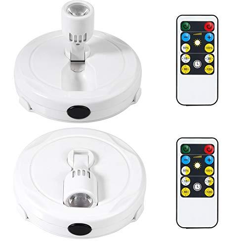 Justech 2PCS LED Focos Inalámbricos para Techo con Control Remoto Luces de...