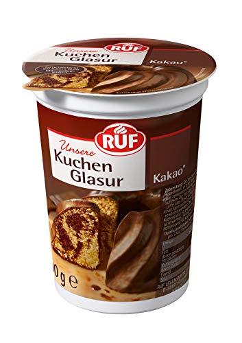 RUF Kuchenglasur Kakao im 500g Becher • portionierbar, (1 x 500 g)
