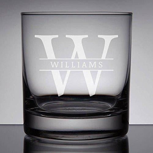 Aangepaste naam Gezandstraald Whiskey Glas, Monogram Rocks Glas, Vaderdaggeschenk, Bourbon Glas, Groomsman Gift Ideeën, Geschenken voor Groomsmen, Rocks Monogram.