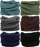 VANCROWN Headwear Head Wrap Sport Headband Sweatband 220 Patterns 12 in 1 Magic Scarf 12PCS & 6PCS 12 in 1 (6PCS.Solid Color)