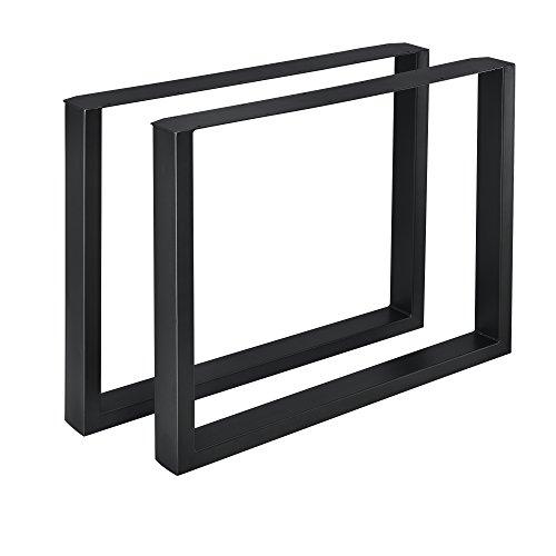 [en.casa] 2X Tischgestell 90 x 72cm Schwarz Stahl Tischkufen Tischbein