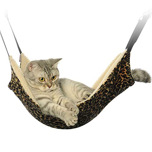 Flytianmy Cat Hammock Bed Pet Cage Hammock, Easy to Attach to a Cage - Size 2114 inch