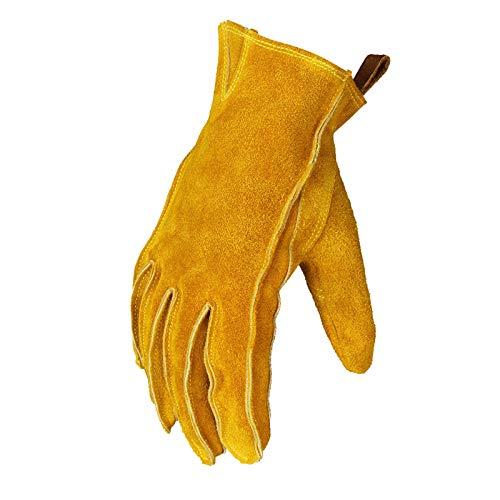 Guantes de Moto Amarillos para Hombre, Ganchos para Guantes de Moto de Cuero Antideslizantes y Resistentes al Desgaste, Guantes de Guantes Moto Completo, para Motocross, Escalada, jardinería