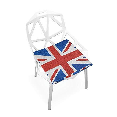 linomo UK - Cuscino per sedia con motivo bandiera Britain Memory Foam, per bambini, 40 x 40 cm