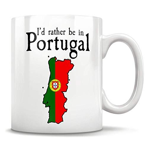 Lawenp Regalo de Portugal, taza de Portugal, bandera de Portugal, mapa de Portugal, nativo de Portugal, saludos portugueses, amigo portugués, orgulloso portugués 15 oz