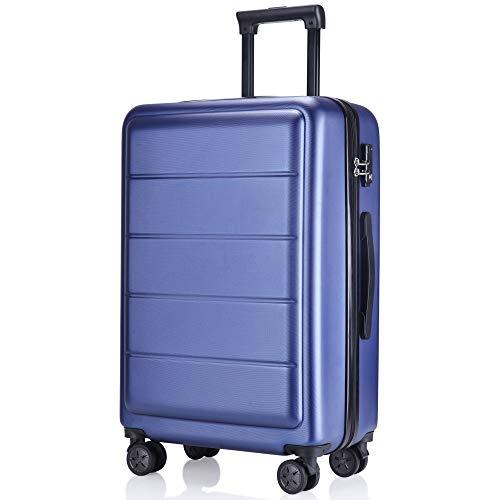 レーズ(Reezu) スーツケース 超軽量 TSAロック搭載 キャリーバッグ S M サイズ 小型 ファスナー キャリーケース 耐衝撃 ビジネス トランク 旅行出張 人気 大型 保管カバー付 1年保証 サファイア sapphire Mサイズ 約65L