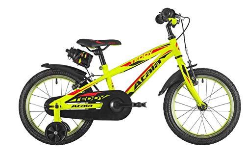 Atala Bicicletta da Bambino Teddy Boy Modello 2020, Colore Giallo Neon, Altezza Massima 120cm