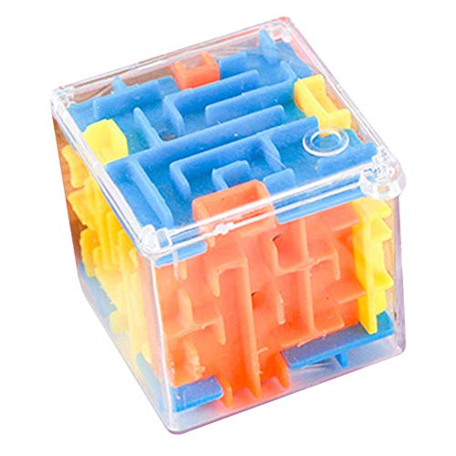 lzndeal 3 PCS Mini 3D Maze Toy Transparent Beads Brain Teaser Game Toy Labyrinth Ball Rotate Children Puzzle Intelligence Trianing