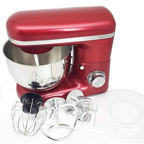 Batidora de vaso de acero inoxidable de 1500 W, 4 L, 6 velocidades, para preparar huevos, whiskes, pasteles, batidoras