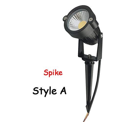 JXIHYD Tuin Gazon Lamp Outdoor Led Nagel Licht Waterdichte Verlichting Led3W 5 W Led Licht Tuin Pad Spotlight Ac110V 220 V Dc12V Stijl A Spike 5 W Groen 85 265V