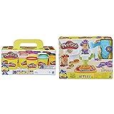 Play-Doh , Color Surtido, Pack 20 Botes (Hasbro A7924Euc) Barberia (Hasbro E2930Eu6)