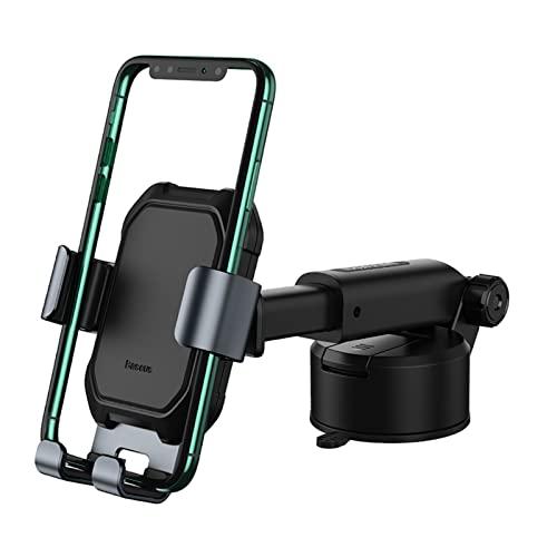 Soporte para teléfono Soporte de teléfono de la lechón Soporte de succión fuerte Soporte de montaje en coche 360 Tenedor de coche de gravedad ajustable Soporte para teléfono móvil ( Color : Black )