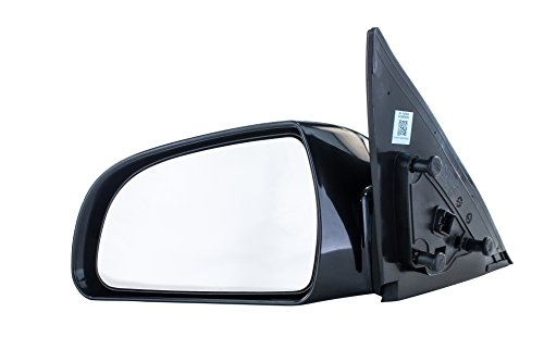Driver Side Mirror for (2006 2007 2008 2009 2010) Hyundai Sonata Unpainted Heated Power Operated Right Outside Rear View Replacement Door Mirror - Parts Link #: HY1320149