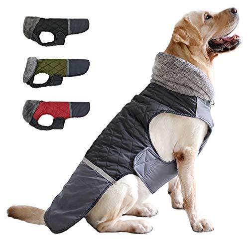 Etechydra Cappotto per Cani Impermeabile, Invernali Caldo Vestiti per Cani Riflettente Giacche Gilet Giacca per Cani di Taglia Piccola di Media Grandi Taglia, M