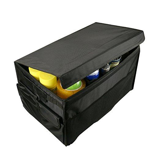 AUTO KFZ Kofferraumtaschen Organizer Mit Faltbar, GOGOLO Klettbefestigung Aufbewahrung Wasserdichtes Oxford Kofferraum für Auto, SUV, Minivan, Truck & Anwendungen