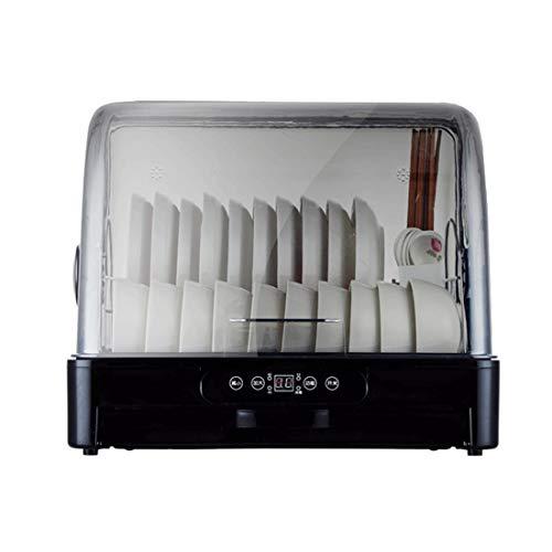 HT&PJ Lave-vaisselle portable à 360 ° avec tiroir de rangement - Convient pour le bureau et la cuisine (noir)