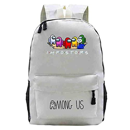 Entre nosotros juguetes Hot Game Among Us mochila de los niños de dibujos animados anime escuela bolsa portátil mochila niña niño mochila unisex impermeable bolsas de viaje