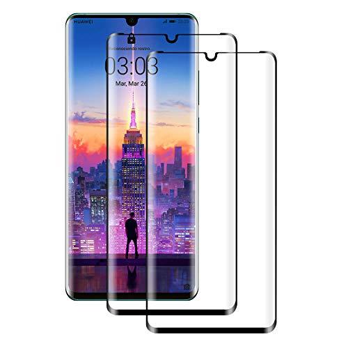 Aspiree Panzerglas Schutzfolie kompatibel mit Huawei P30 Pro, [2 Stück] Gehärtetes Glas Displayschutzfolie mit 9H Härte, HD Ultra Klar, Anti-Kratzen, Anti-Öl