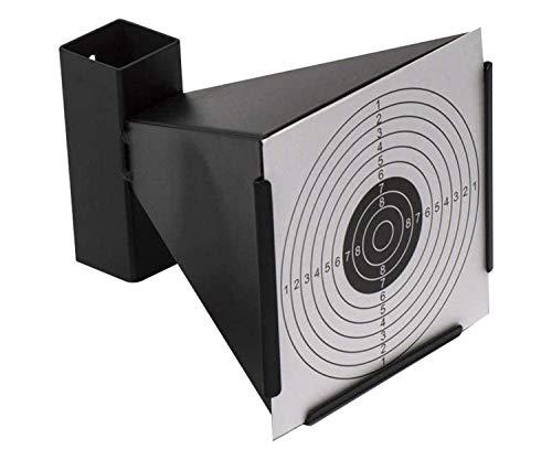 🎯ARSUK Airsoft porta bersagli a imbuto e trappola per pellet in acciaio resistente vengono forniti con 50 carte bersaglio. Il colore del corpo è nero 🎯 Il supporto del bersaglio può essere utilizzato da solo o anche fissato a un palo o a una parete. ...