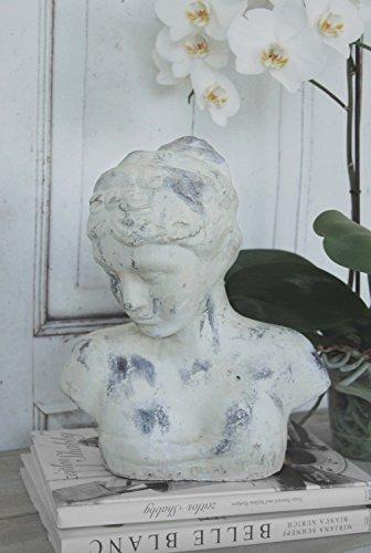 Büste,Frauenbüste Clara Keramik im charmantem Landhaus Shabby Chic Stil