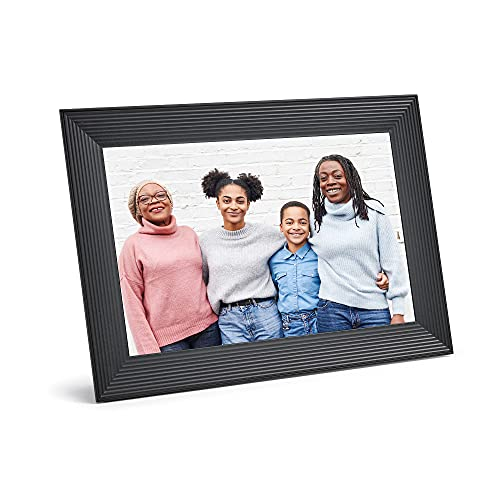 Aura Carver Luxe HD Smart Digital Picture Frame 10.1 Inch – Gravel