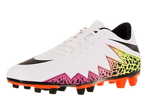 Nike Hypervenom Phade II FG, Scarpe da Calcio Uomo, Bianco Nero Arancione Blanco Blanco White Black Total Orange Volt, 40.5 EU