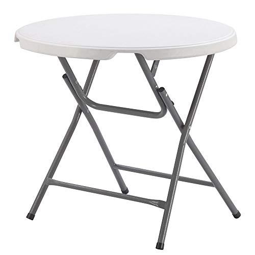 Tafel, rond, lichtklap, campingtafel, wit, gemakkelijk te reinigen en eenvoudig te monteren, campingtafel.