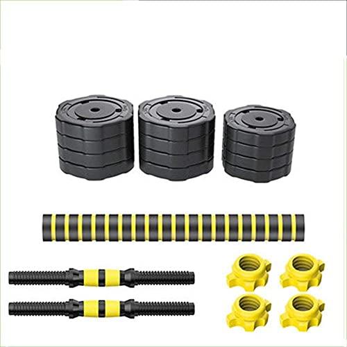Formación Dumbbell Mens Fitness Equipment Home Barbell Subbell Pareja Peso Ajustable Peso Mancuerna Ejercicio Ejercicio Brazo Músculos (Tamaño: 40kg)-15kg