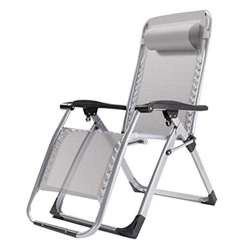 Preisvergleich Produktbild WRRAC-Stuhl Schwerelosigkeit Stühle Sunbed Klappbarer Liegestuhl Gartenstuhl Verstellbare Sonnenliegen mit Kopfstütze Liege Liegefläche Gewicht 200KG für Yard Pool