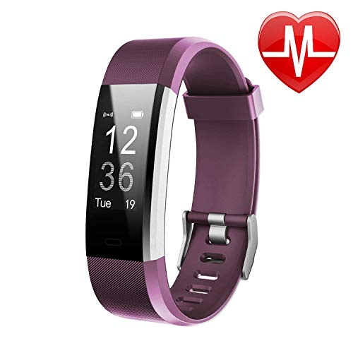 Letsfit Fitness Tracker HR, Activity Tracker Watch with Heart Rate Monitor, IP67 Water Resistant Smart Bracelet with Calorie Counter Pedometer Watch for Women Men