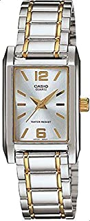 Watch for Women by Casio, Analog, Stainless Steel, Silver/Gold, LTP-1235SG-7A