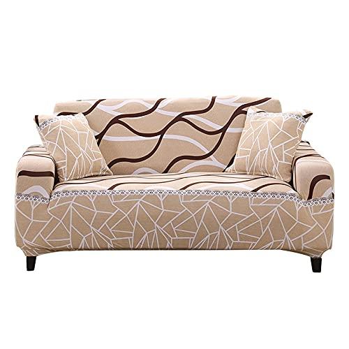 WXQY Funda de sofá Modular elástica Moderna, Funda de sofá de Sala de Estar Funda de reposabrazos en Forma de L, Funda de sofá Totalmente Envuelta A11 1 Plaza