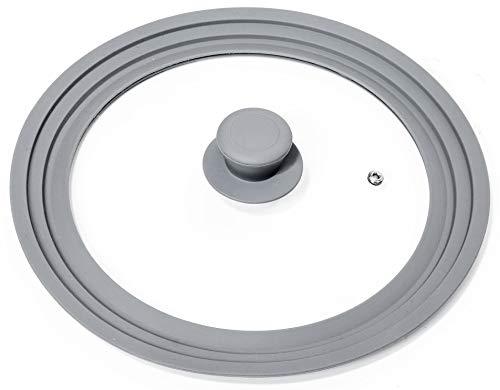 Oishii Lidmaster - Coperchio in Vetro Universale per padelle e pentole con Ø di 24, 26, 28 cm