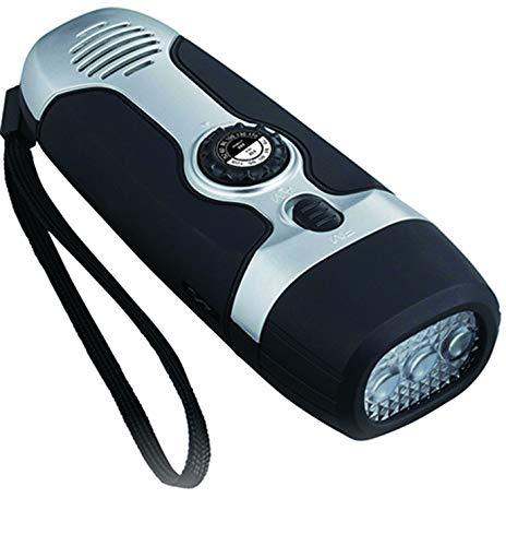 カクセー クロスフィールド ダイナモLEDラジオライト ブラック 約5.8×14.5×4.2cm XF-10