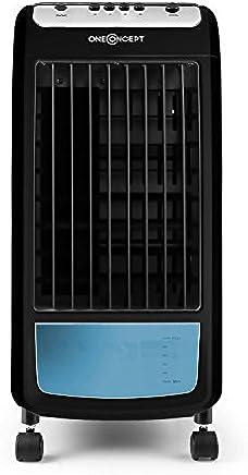 Oneconcept Caribbean Blue 2019 Edition • Enfriador • Ventilador • Climatizador • Humidificador • Portátil • 3 velocidades • Potencia 70 W • Capacidad 4L • Ruedas integradas • Negro y Azul