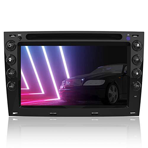 AWESAFE Radio Coche 7 Pulgadas con Pantalla Táctil 2 DIN para Renault Megane 2003-2009, Autoradio con Bluetooth/GPS/FM/RDS/CD DVD/USB/SD, Apoyo Mandos Volante, Mirrorlink y Aparcacimiento