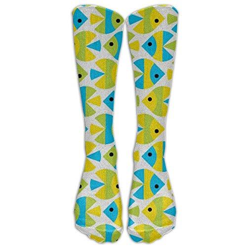 hgdfhfgd Tropical Fish Compression Socks Soccer Socks High Socks Long Socks 50cm(19.7 inch) trend 3536