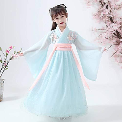 N-B Traje Chino Antiguo nio Chico Vestido de Hadas Cosplay Hanfu Danza folclrica Ropa de actuacin Vestido Tradicional Chino para nias