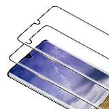 RIIMUHIR 2 Pack Protector Pantalla para Huawei P30 Pro Cristal Templado, [3D Curvado Completa Cobertura] [Dureza 9H] [Sin Burbujas] Vidrio Templado HD Protector Pantalla para P30 Pro