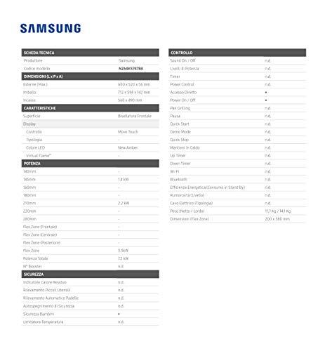 Samsung Elettrodomestici NZ64K5747BK