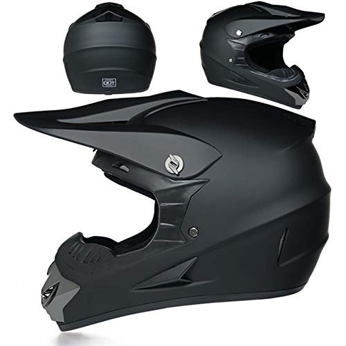 Motorbike Off Road Crash Helmet ABS Engineering Plastics Sturdy, Wear-Resistant and Comprehensive Head Protection Suitable for Adult Men and Women 342524cm 1 Item (Color : V, Size : M)